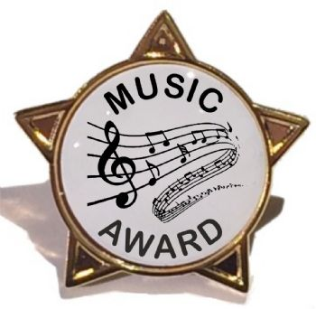 MUSIC AWARD star badge